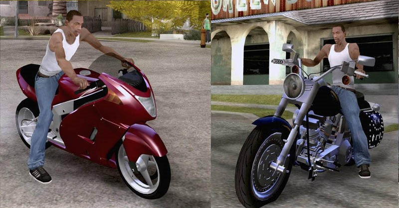 Читы и коды на ГТА Сан Андреас на мотоциклы