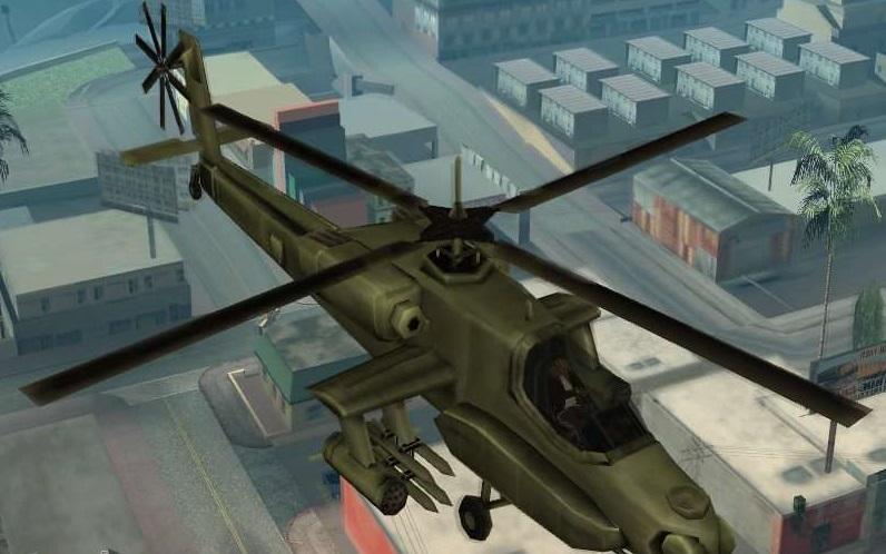 Код на вертолет в ГТА Сан Андреас